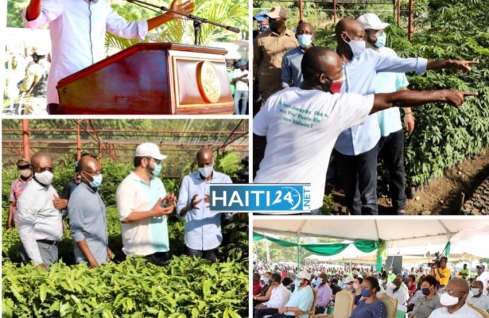 Jovenel Moïse inaugure un centre de germoplasme à Port-de-Paix