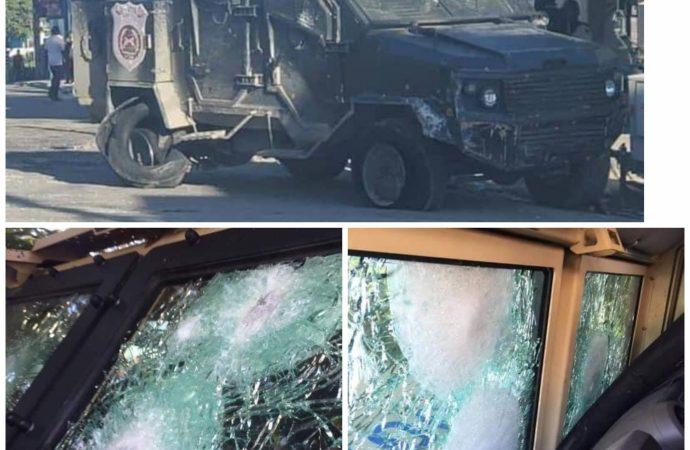 Insécurité : des voitures blindées de la PNH en piteux état après une descente à bas Delmas