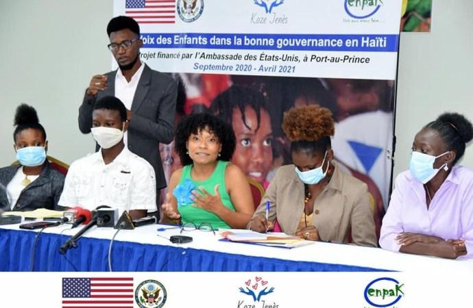 """L'organisation ENPAK lance officiellement son projet """"La voix des enfants dans la bonne gouvernance en Haïti"""""""