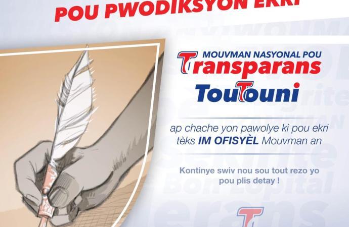 Le mouvement politique » TOUTOUNI » lance un concours national pour la rédaction de son hymne officiel