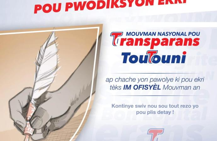 """Le mouvement politique """" TOUTOUNI """" lance un concours national pour la rédaction de son hymne officiel"""