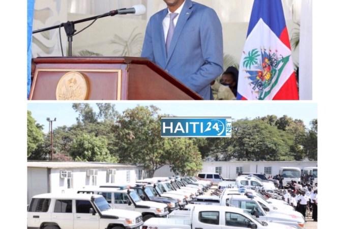 Sécurité : Remise d'une flotte de véhicules et de motocyclettes à la PNH