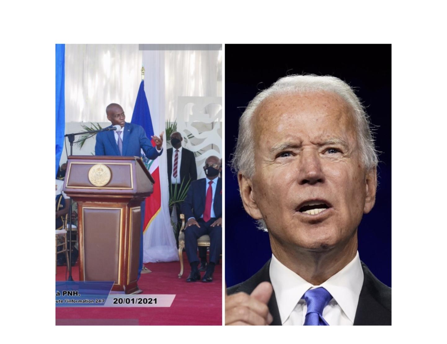 Jovenel Moïse souhaite du succès à Joe Biden et Kamala Harris et se dit prêt à travailler avec leur administration
