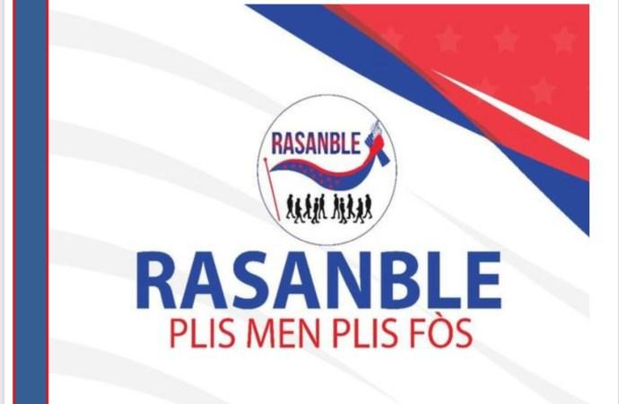 """Crise : Le parti politique """"RASANBLE"""" souhaite un recours aux bons offices d'un médiateur local"""