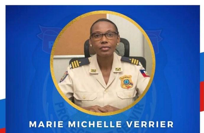 Marie Michelle Verrier, nouvelle porte-parole de la Police Nationale d'Haïti