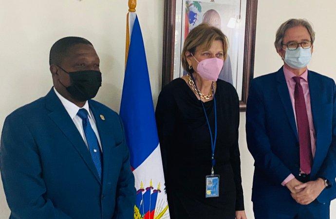 Fructueuse rencontre entre le BINUH et le MJSP autour de la situation des droits de l'homme en Haïti