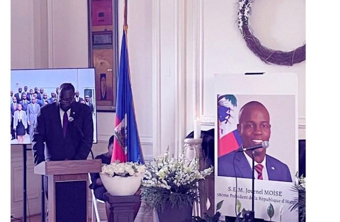 L'Ambassade d'Haïti à Washington rend hommage à Jovenel Moïse