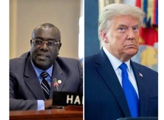 Propos désobligeants de Donald Trump envers des migrants haïtiens, Bocchit Edmond s'insurge