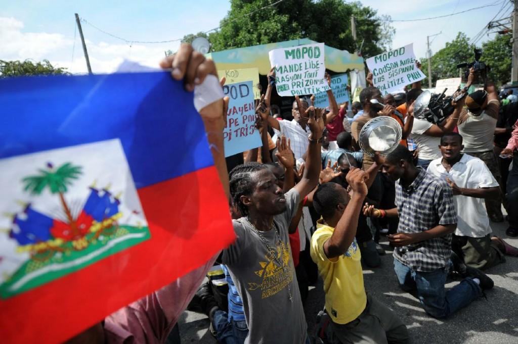 Protesters Rally in Haiti Capital Demanding Vote