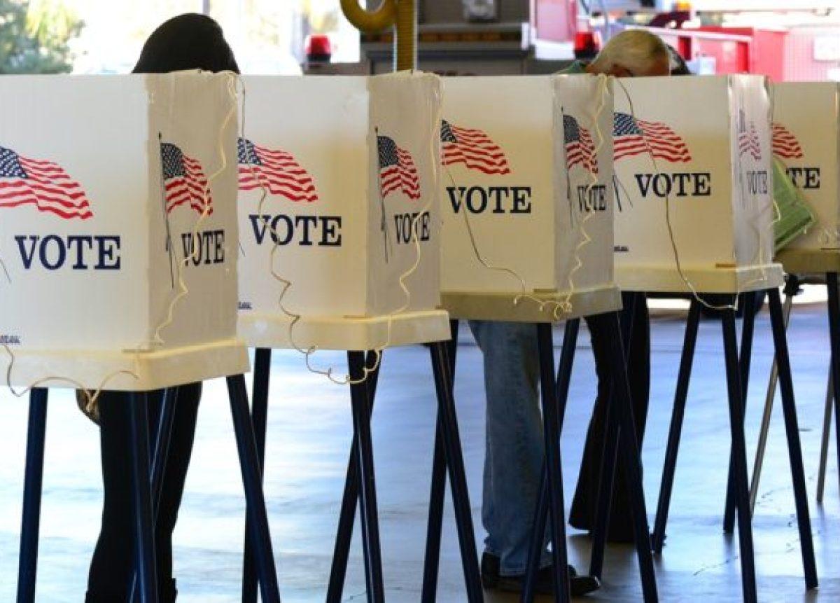 Voting booths Haitians