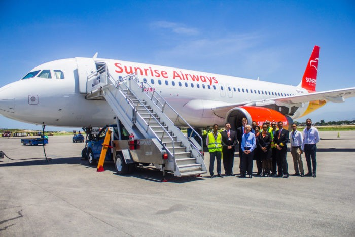 Sunrise Airways Management Welcomes New Airbus A320 To Haiti