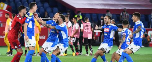 Napoli celebrate sixth Coppa Italia title