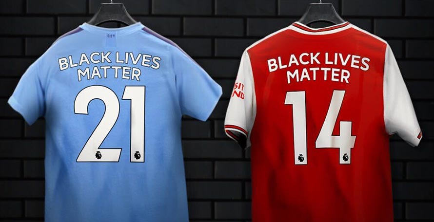 Premier League Kits To Feature Black Lives Matter Logo & Replaced Player Names.