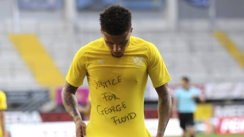 George Floyd protests: German FA will not punish Bundesliga players for anti-racism messages