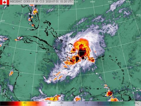 Parts of Haiti Begin to Feel Impact of Tropical Storm Isaias