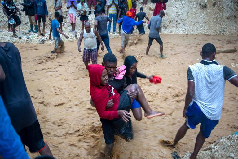 Death and destruction in Haiti as Tropical Storm Laura batters country