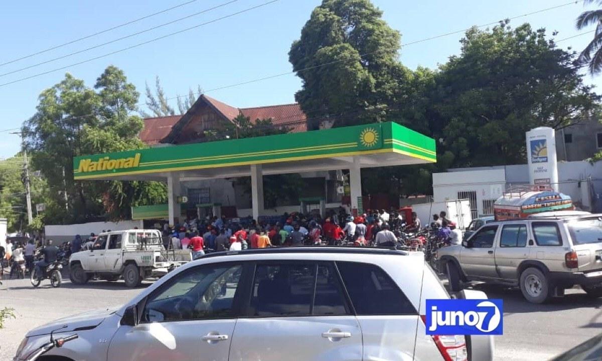 National gas station Haiti
