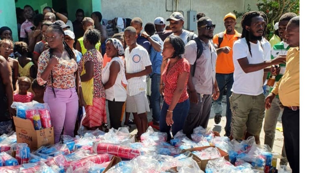 Political party donates hygiene kits, other supplies to Bel Air victims