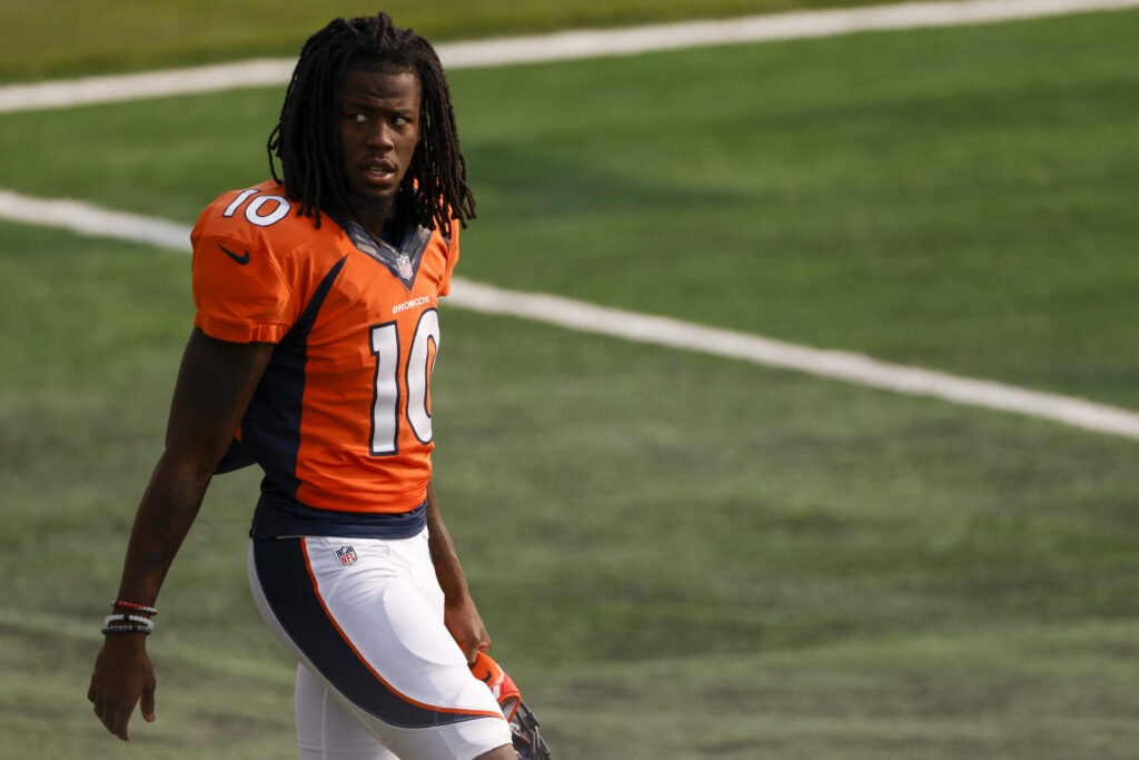 Jeudy leads Broncos in catches again, though team lost to Buccaneers