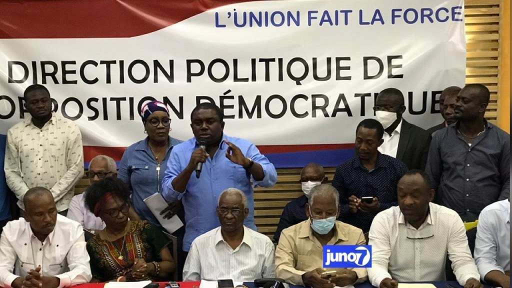 Opposition group says President Moïse has not met with them