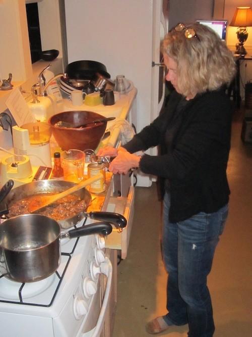 Haitian soup joumou cooking, J.O. Haselfhoef