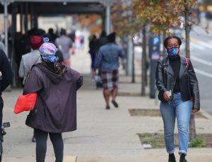 haitian woman wearing mask