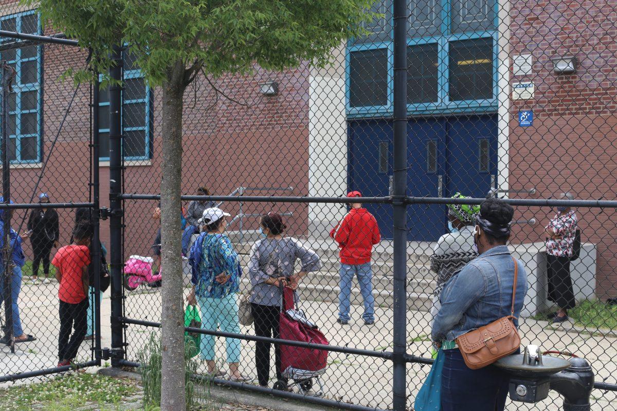 parents picking up children from school