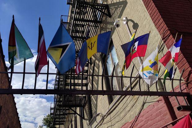 Caribbean Brooklyn, flags of Caribbean, Little Haiti, Little Caribbean