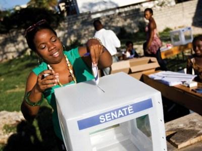 haitian woman voting, haiti elections