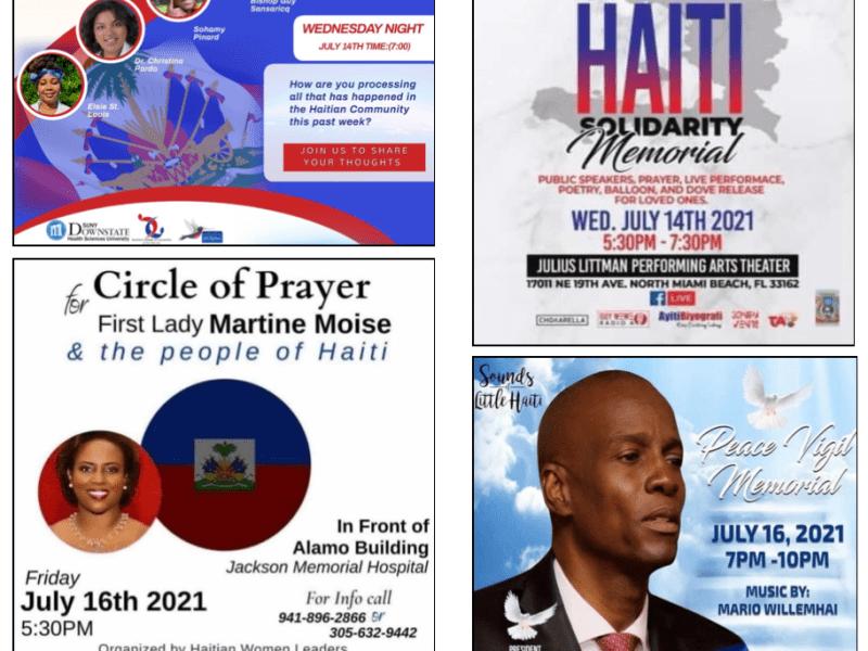 diaspora memorials, haitian events, haiti prayer vigils