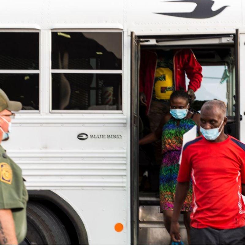 border patrol release Haitians