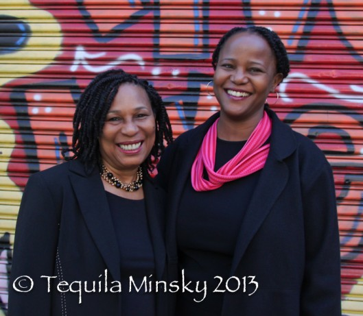 Elsie Augustave (l) with Edwidge Danticat - peoplewhowrite