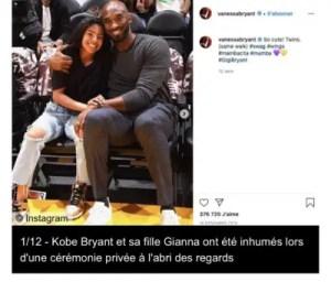 Kobe Bryant et sa fille enterrés ! 1
