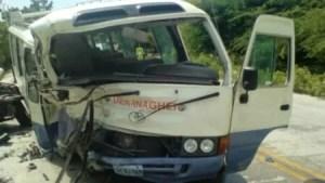 Circulation : un autobus transportant des étudiants de l'INAGHEI impliqué dans un accident sur la RN1 1