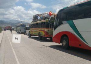 La Route nationale numéro 1 est bloquée à Gonaïves (Artibonite) 1