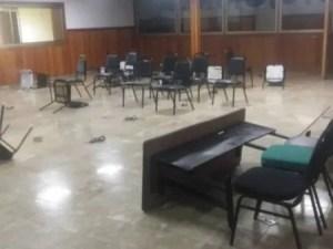 La salle de séance du Sénat haïtien envahie par des militants politiques 1