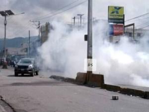 Pétion-Ville : la manifestion de l'opposition dispersée à coups de gaz lacrymogène 1