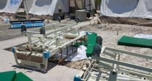 À Gonaïves des employés du Centre ambulancier national ont saccagé un espace aménagé pour recevoir les patients du COVID-19