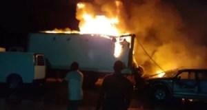Saint-Marc (Artibonite) : un coup de tonnerre provoque l'incendie de 5 véhicules à la douane