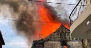 Cap-Haïtien (Nord) : incendie du toit d'une ancienne maison