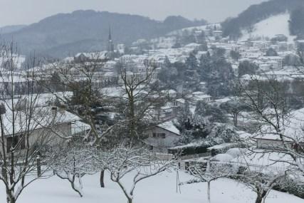 Hasparren sous la neige