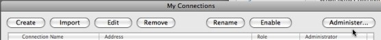 My Connections Administer... button