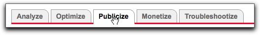 Publicize tab