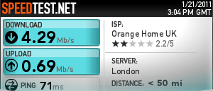 Orange Broadband Speed Test