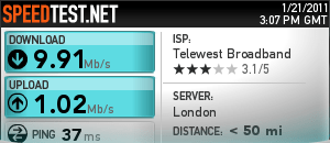 Virgin Broadband Speed Test