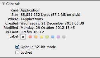 Mac Get Info Panel
