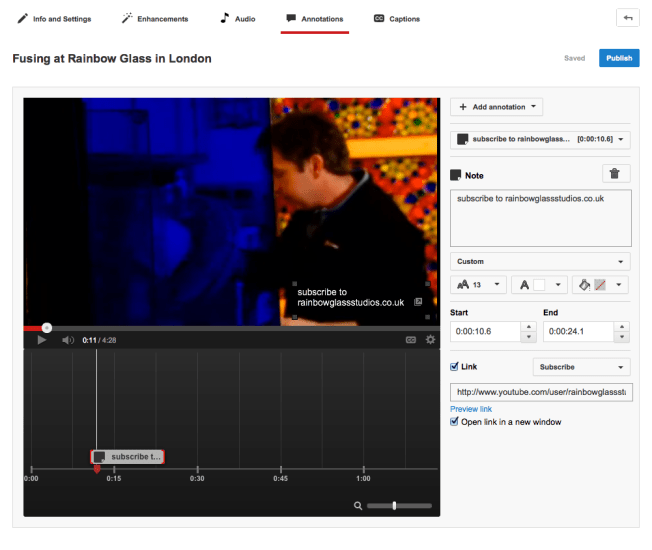 youtube video timeline