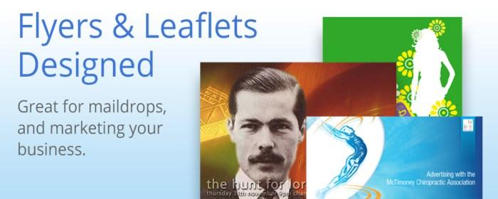flyers and leaflet design