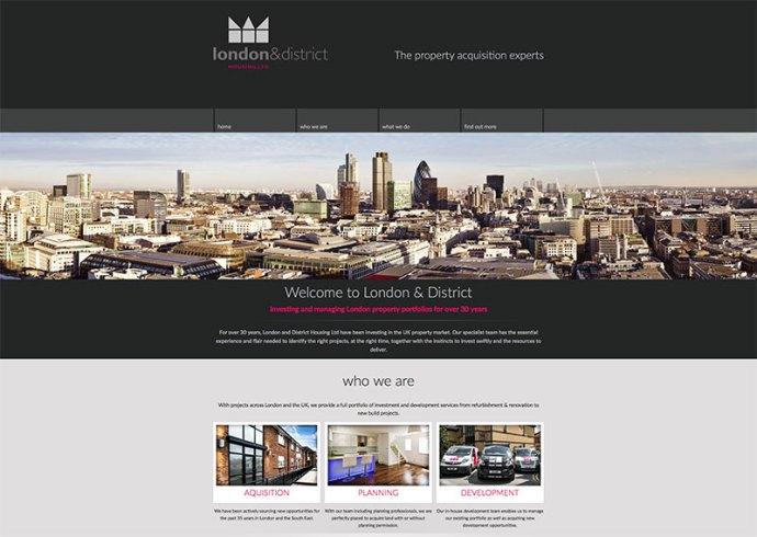 london & district housing website