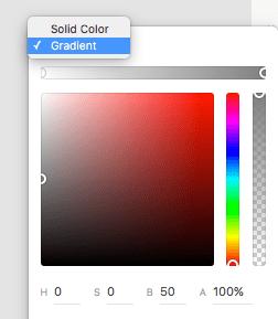 Adobe XD Gradient Fill